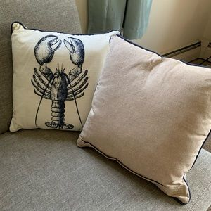 Pier 1 Accents - Pier 1 Beaded Lobster Accent Throw Pillows